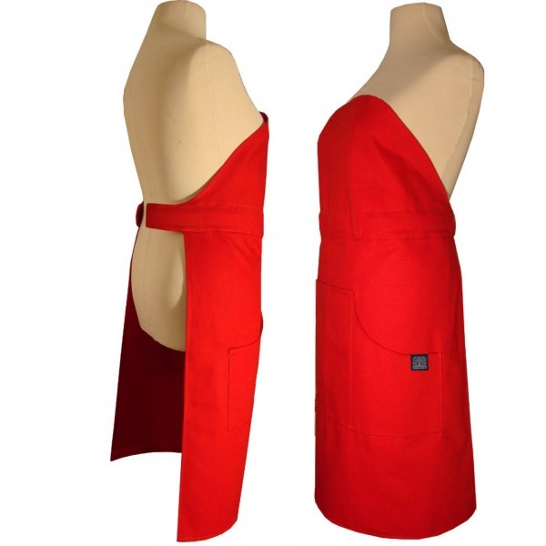 Fartuch kuchenny Nytta Design Click-on czerwony NY-NDS-705-8