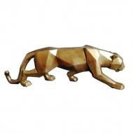 Figurka Leopard Geometric 48x11x15 cm