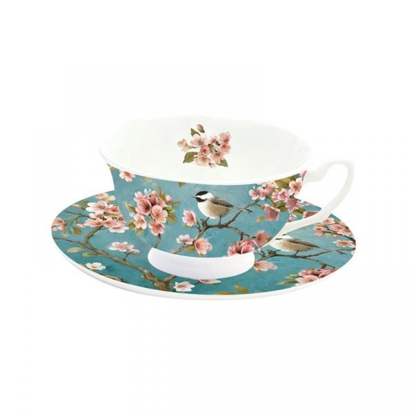 Filiżanka do cappuccino 150ml Nuova R2S Romantic niebieski 322 BLOS