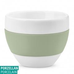 Filiżanka do cappuccino Koziol AROMA biały/eukaliptusowa zieleń KZ-3561344