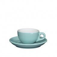 Filiżanka do espresso ze spodkiem 50 ml Cilio Roma błękitna