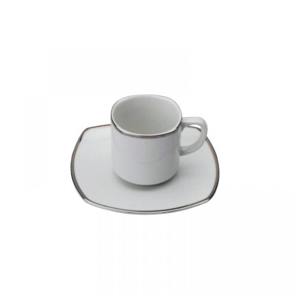 Filiżanka do kawy Casa Bugatti Serena Platino 95-SPL462