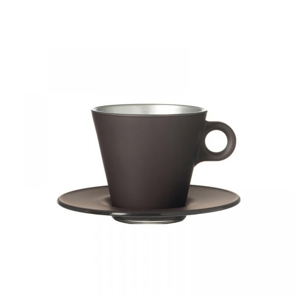 Filiżanka espresso + spodek Leonardo Ooh! Magico szary metalik 063873