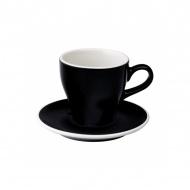 Filiżanka i spodek Cafe Latte 280 ml Loveramics Tulip czarna