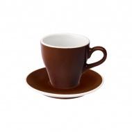 Filiżanka i spodek Cafe Latte 280 ml Loveramics Tulip brązowa