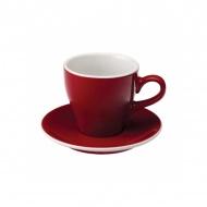 Filiżanka i spodek Cafe Latte 280 ml Loveramics Tulip czerwona