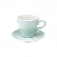 Filiżanka i spodek Cafe Latte 280 ml Loveramics Tulip bladoniebieska