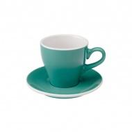 Filiżanka i spodek Cafe Latte 280 ml Loveramics Tulip turkusowa