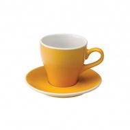 Filiżanka i spodek Cafe Latte 280 ml Loveramics Tulip żółta