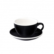 Filiżanka i spodek Cafe Latte 300 ml Loveramics Egg czarna