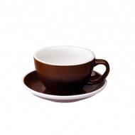 Filiżanka i spodek Cafe Latte 300 ml Loveramics Egg brązowa