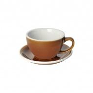 Filiżanka i spodek Cafe Latte 300 ml Loveramics Egg karmelowa