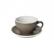 Filiżanka i spodek Cafe Latte 300 ml Loveramics Egg granitowa