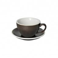 Filiżanka i spodek Cafe Latte 300 ml Loveramics Egg szaro-brązowa