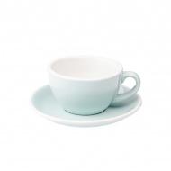 Filiżanka i spodek Cafe Latte 300 ml Loveramics Egg bladoniebieska