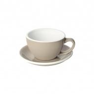 Filiżanka i spodek Cafe Latte 300 ml Loveramics Egg taupe