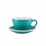 Filiżanka i spodek Cafe Latte 300 ml Loveramics Egg turkusowa