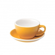 Filiżanka i spodek Cafe Latte 300 ml Loveramics Egg żółta