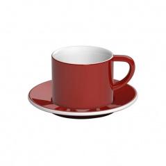 Filiżanka i spodek Cappuccino 150 ml Loveramics Bond czerwona