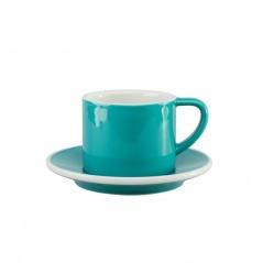 Filiżanka i spodek Cappuccino 150 ml Loveramics Bond turkusowa