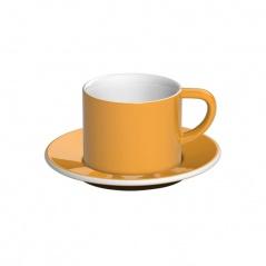 Filiżanka i spodek Cappuccino 150 ml Loveramics Bond żółty