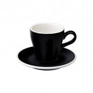 Filiżanka i spodek Cappuccino 180 ml Loveramics Tulip czarna
