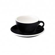 Filiżanka i spodek Cappuccino 200 ml Loveramics Egg czarna