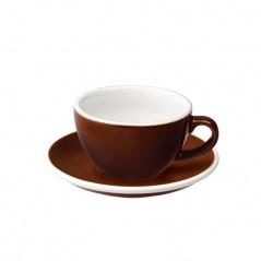 Filiżanka i spodek Cappuccino 200 ml Loveramics Egg brązowa
