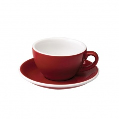 Filiżanka i spodek Cappuccino 200 ml Loveramics Egg czerwona
