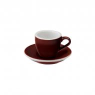Filiżanka i spodek Espresso 80 ml Loveramics Egg brązowa