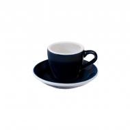 Filiżanka i spodek Espresso 80 ml Loveramics Egg granatowa