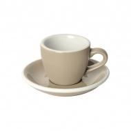 Filiżanka i spodek Espresso 80 ml Loveramics Egg taupe