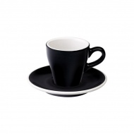 Filiżanka i spodek Espresso 80 ml Loveramics Tulip czarna