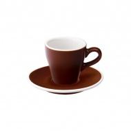 Filiżanka i spodek Espresso 80 ml Loveramics Tulip brązowa
