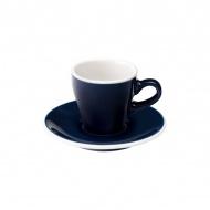 Filiżanka i spodek Espresso 80 ml Loveramics Tulip granatowa