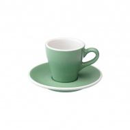 Filiżanka i spodek Espresso 80 ml Loveramics Tulip miętowa