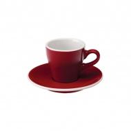 Filiżanka i spodek Espresso 80 ml Loveramics Tulip czerwona