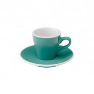 Filiżanka i spodek Espresso 80 ml Loveramics Tulip turkusowa