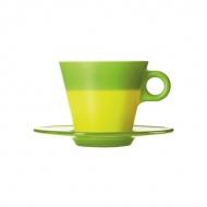 Filiżanka + spodek zielona Leonardo Ooh! Magico