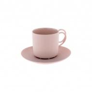 Filiżanka ze spodkiem 100 ml ENDE Espresso Twist różowa