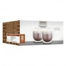 Filiżanki do cappuccino podwójna ścianka 2 x 250 ml Kitchen Craft Le'Xpress przezroczyste