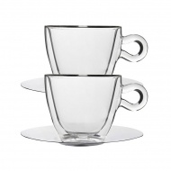 Filiżanki termiczne do cappuccino 165 ml 2 szt. Luigi Bormioli szklane