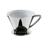 filtr do kawy srebrny, rozmiar 4, śred. 14x10,5 cm
