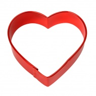 Foremka do ciastek serce 7,5x7,5 cm Dexam czerwona