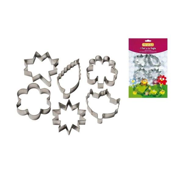 Foremki do ciastek Kwiaty i Liście 6szt 15646 Guardini  8006043156461
