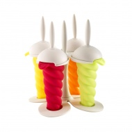 Foremki do lodów świderków ze stojakiem 15,5x12x12 cm Mastrad kolorowe