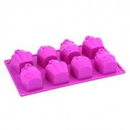 Forma babeczki 6 kształtów Pavoni różowy