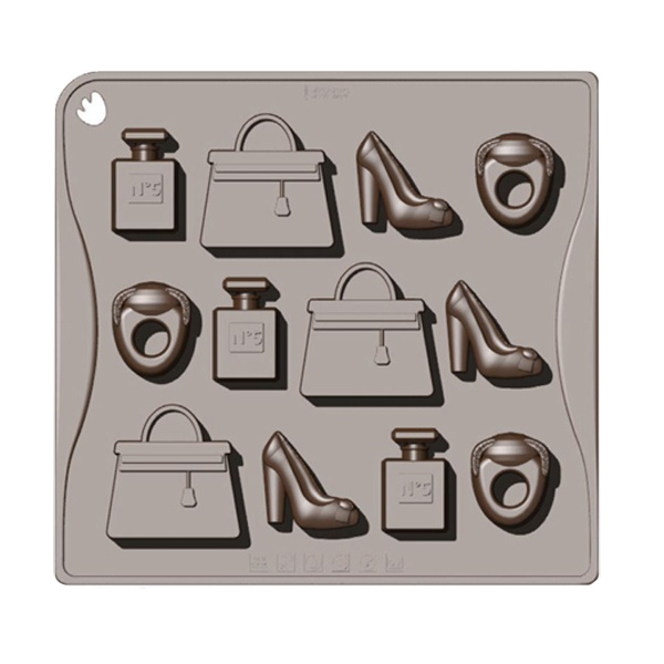 Forma do czekoladek lub kostek lodu 12 sztuk garderoba Pavoni CHOCOFASHIONMRS