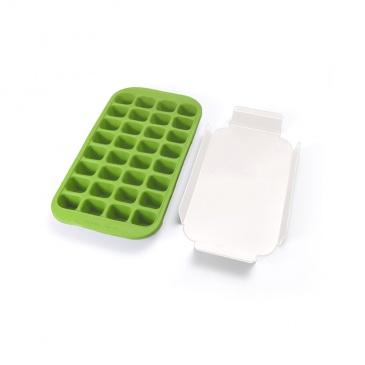 Forma do kostek lodu z tacką Lekue zielona