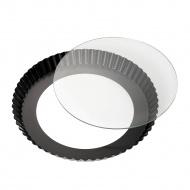 Forma do tarty ze szklanym dnem 28 cm Kuchenprofi czarna